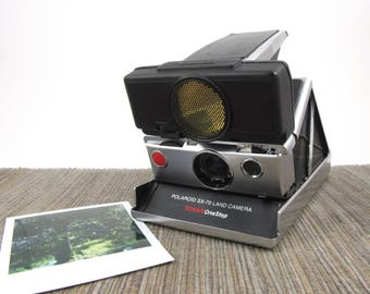 Working Polaroid SX-70 Sonar Onestep Camera, Vintage Polaroid Camera, Tested 1970s Camera, Old Polaroid, Takes the Impossible Project Film