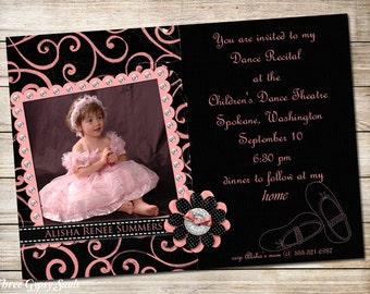 Dance Recital Invitation Ballet Recital Invitation Ballet Invitation