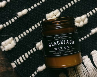 No. 04 MIMOSA- 1/2 lb. Hand-Poured Soy Candle by Blackjack Wax Co