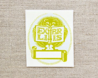 hedgehog bookplates - custom book plates - ex libris - personalized gift - bookplate stickers - bookplates for kids - custom gifts under 20
