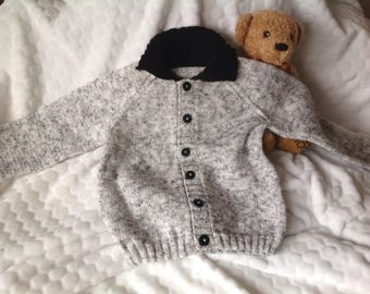 Hand knitted jacket