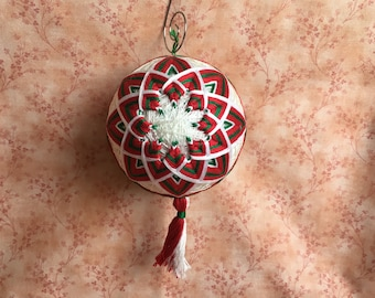 Handmade Temari Ball Ornament
