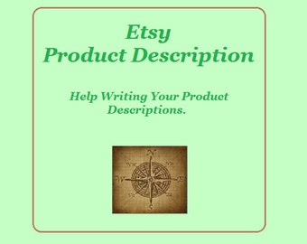 Product Description, Help, Etsy SEO Help, Copywriting, Writing service, etsy descriptions, etsy shop help,