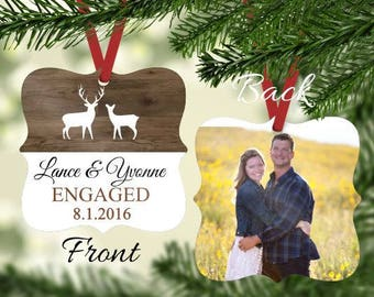 Engaged Ornament ~ Gift for Engaged Couple - Engagement Ornament - Wedding Ornament - Christmas Ornament - Just Engaged Gift -Gifts under 20