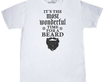 Its The Most Wonderful Time For a Beard Grunge T-Shirt by Inktastic