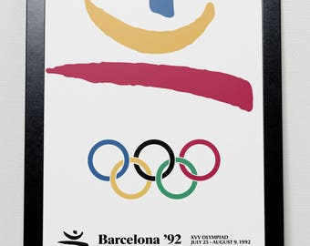 Barcelona Olympic Games 1992 Spain Poster