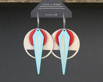 Laser cut earring | La NAJA: Red