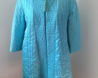 1960's Turquoise Sears Roebuck and Co. Robe
