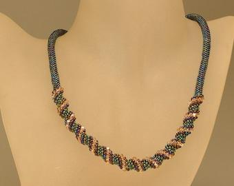 Jewelry Necklace Handmade necklace Beadwork necklace Swarovsky crystals necklace