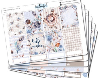 Pinecone Deluxe Kit | DK22 | Planner Stickers for Erin Condren Vertical Planners - Physical Item | The Hummingbird Planner
