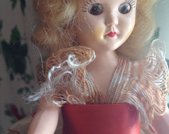 1940s Valentine Doll Heart Costume Absolutely Darling As Is Eyes Issue