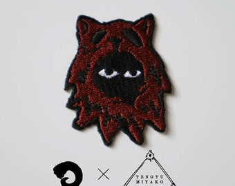 Wolf/Patch/edition 200/Artist Collaboration with Miyako Tengyu, embroidery, seal,