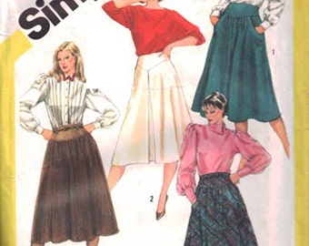 Simplicity Sewing Pattern 6123 Misses' Skirt  Size:  12  Uncut