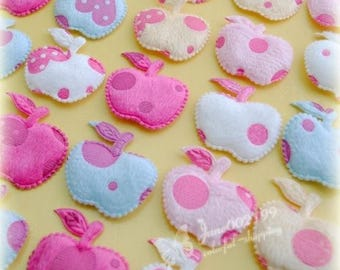 Apple shape appliques to sew or glue (x 20)