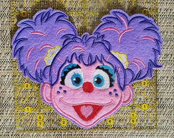 Abby Cadabby large patch inspired iron on patch