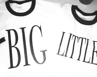 Big Little Ringer tees READY TO SHIP