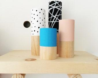 Chunky Peg Set (choose your colors), wood peg set, shelf decor, kids decor, painted pegs, decorative pegs, painted wood cylinders
