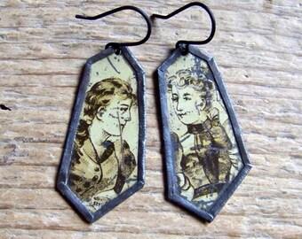 Recycled  tin earrings     *12