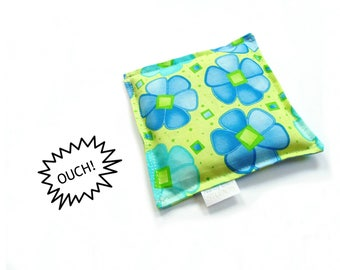 Boo boo bag, ouch pouch, green blue, kids cold therapy, rice bag cold compress, gift under 10, baby shower gift