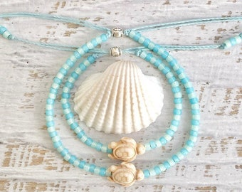 beach jewelry, sea turtle anklet