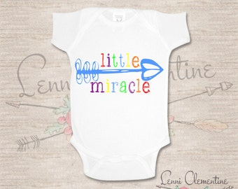 Little Miracle Bodysuit - Rainbow Baby Bodysuit - Miracle Baby - Pregnancy  After Loss - Miracle Baby Clothes - Rainbow Baby Clothes