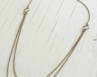 Multi-Layered Kette Anweisung Halskette