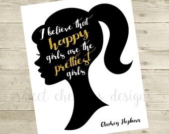 Audrey Hepburn Inspired Printable - 8x10 DIGITAL FILE