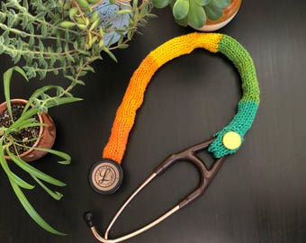"27"" stethoscope cover brigh/color blocks"