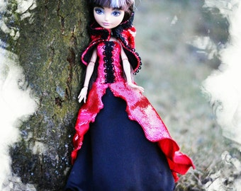Ever After High and Monster High handmade ball gowns + cover up with hood