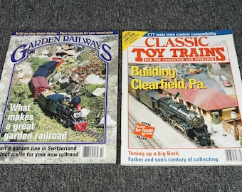 Assorted Collection Of Model Train Magazines Set Of 2 C. 1997
