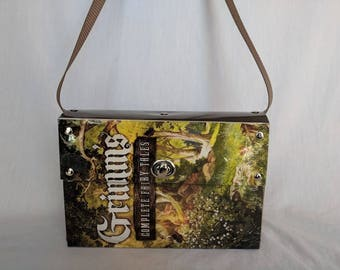 Grimm's Fairy Tales Recycled Book Cover Handbag Purse