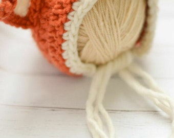Baby Fox Hat, Knit Fox Hat, Fox Baby Shower, Newborn Fox Hat, Baby Fox Bonnet, Newborn Fox Bonnet, Newborn Animal Hats, Baby Animal Hats