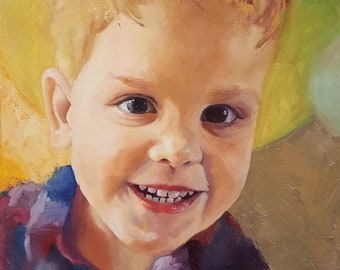 Custom Portrait, Oil on Canvas from Photo