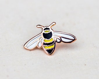 Honey Bee Enamel Pin - CHARITY Lapel Pin - Badge