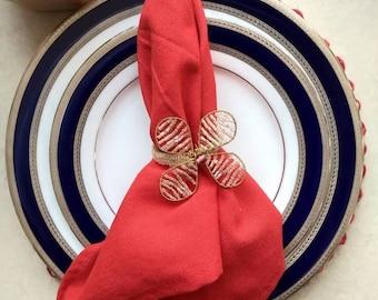 Cloth napkins - set of 6 - Solid Jane dinner napkins - 100% cotton - tassel napkins - Thanksgiving table