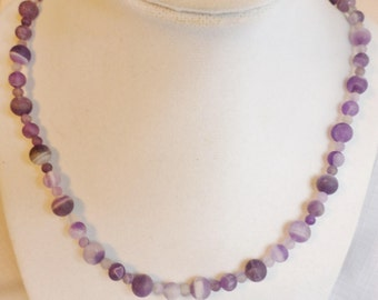 Amethyst Stone Beaded Necklace