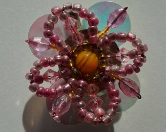 Pink Blossom brooch