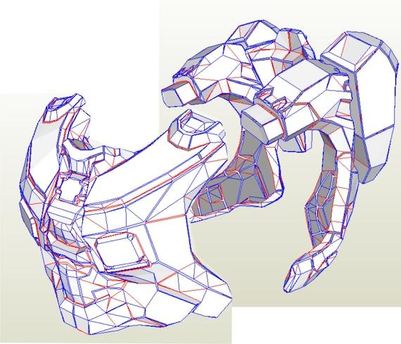 Halo 4 MK IV Armor Suit Replica Patterns For Pepakura