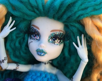 """Lightning Bolte - OOAK 12"""" Collectible Doll Monster High"""