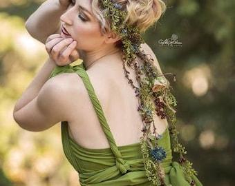 Cora Floral Crown • Organic Vine Flower Crown • Bohemian Crown • Flower Girl • Wedding Crown • Photo Shoot  | Ready to Ship • by Sew Trendy