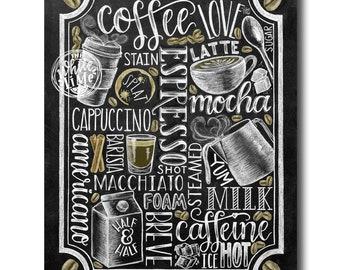 Coffee Sign, Kitchen Art, Coffee Bar, Chalkboard Art, Chalk Art, Coffee Kitchen, Coffee Art, Coffee Lover, Coffee shop