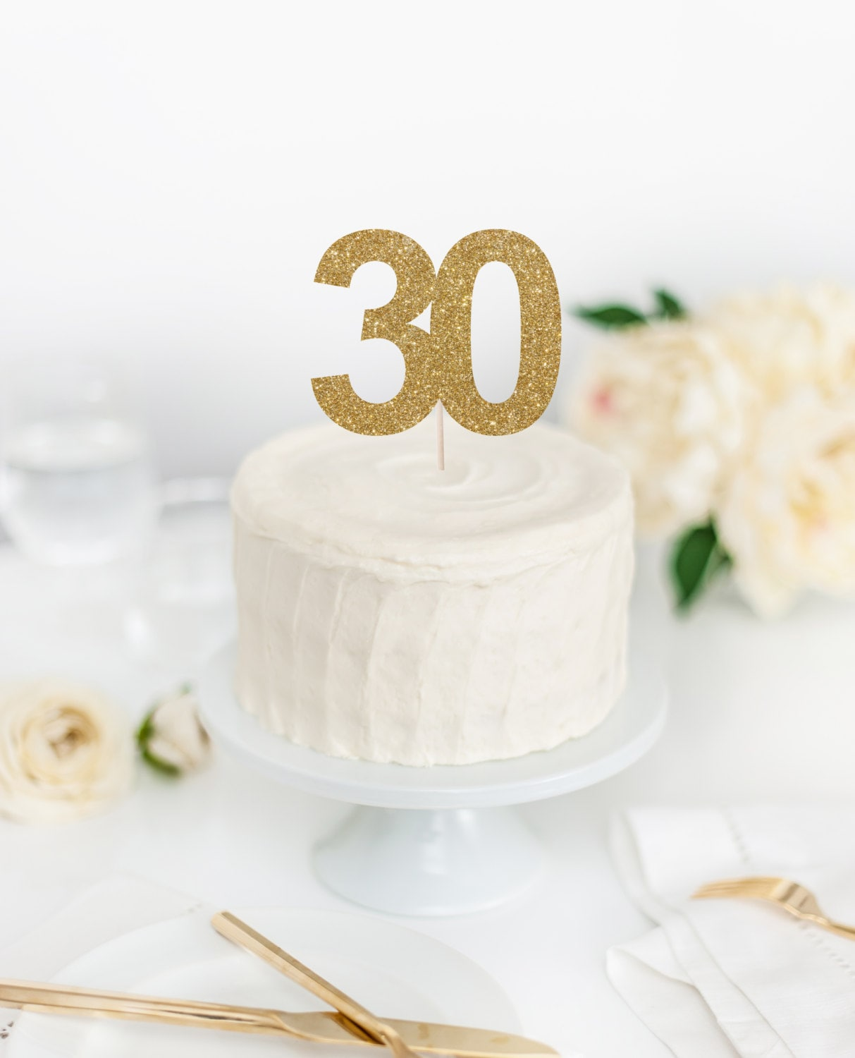 30 Cake Topper 30th Birthday Cake Topper Dirty Thirty Topper