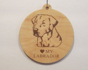 Labrador Christmas Tree Ornament Personalized Pet Ornament Customized Pet Ornament Dog Ornament Pet Memorial Ornament Tree Ornament