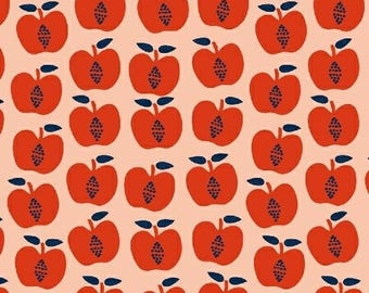 Red apples organic cotton - Windham Fabrics Back to School red apples