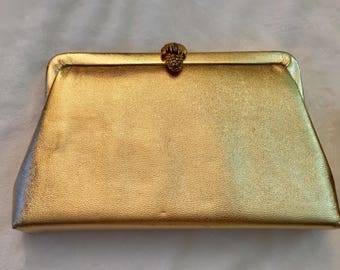 Vintage Gold Pineapple Clutch