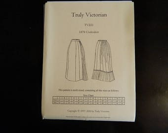 TV221: Truly Victorian Ladies 1878 Tie-Back Skirt Pattern