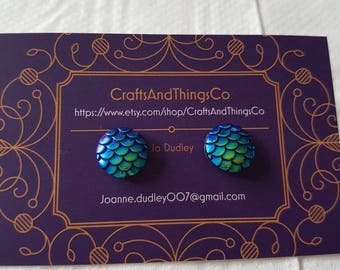 Mermaid Scale Studs