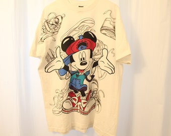 Vintage 90s Mickey Mouse / Pluto Tee - Extended L Yuu6IzKGXI