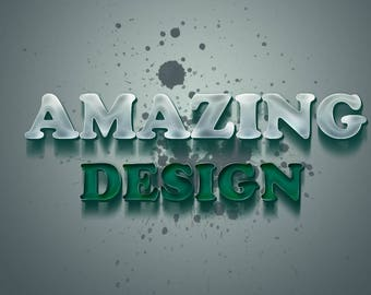 Photoshop Services - 3D Text Creating / Simple Text Editing / High Quality