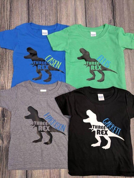 Dinosaur birthday shirt dinosaur third birthday shirt